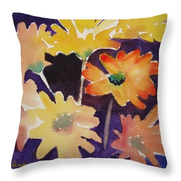 Color And Whimsy Throw Pillow by Marilyn Jacobson