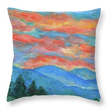 Color Blast Throw Pillow by Kendall Kessler