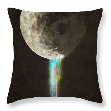 Color Bleed Throw Pillow