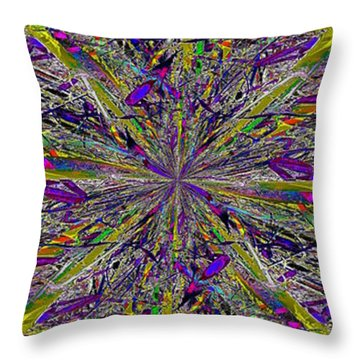 Color Boom Throw Pillow by Tim Allen