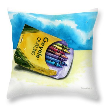 Color Buffet Throw Pillow by Sandi Howell