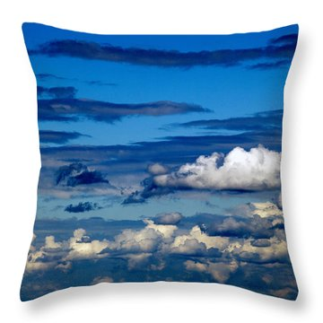 Color Burned Clouds Throw Pillow
