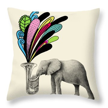 Color Burst Throw Pillow by Eric Fan