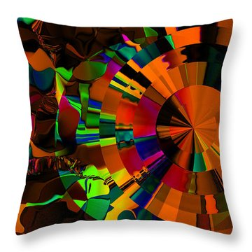 Color Burst - Orange Throw Pillow