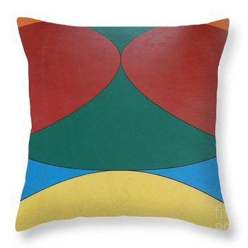 Color Circles At Dow Gardens Throw Pillow by Erick Schmidt