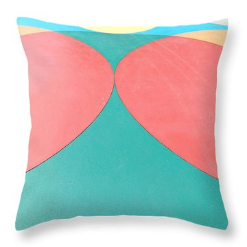 Color Circles Tall Throw Pillow by Erick Schmidt