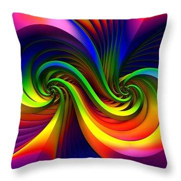 Color Circus Throw Pillow