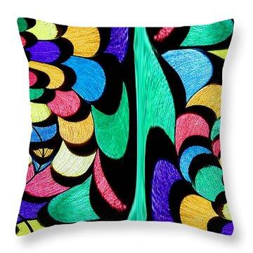 Throw Pillow featuring the digital art Color Dance by Rafael Salazar
