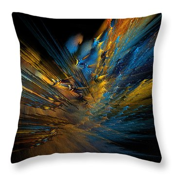 Color Explosion Throw Pillow by Camille Lopez