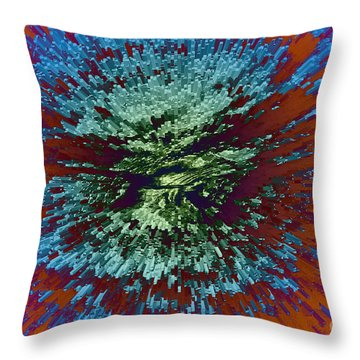 Color Extrusion Throw Pillow