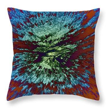 Color Extrusion Throw Pillow