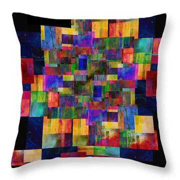 Color Fantasy - Abstract - Art Throw Pillow by Ann Powell