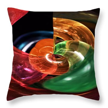Color Fight Throw Pillow