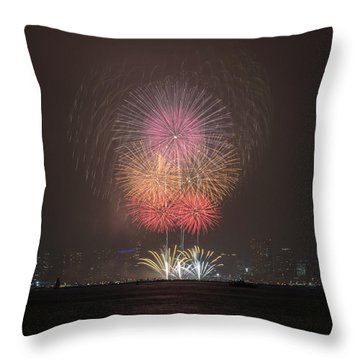 Throw Pillow featuring the photograph Colored Skies by John Swartz