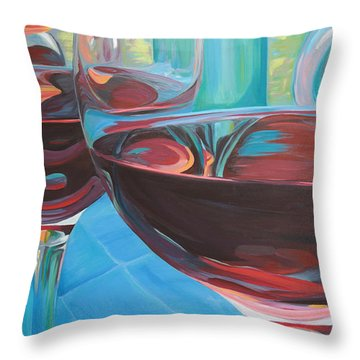 Color Flow Throw Pillow