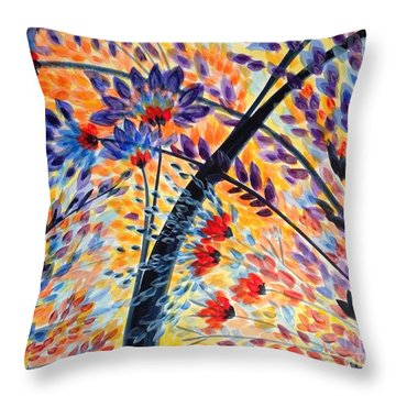 Color Flurry 3 Throw Pillow by Holly Carmichael
