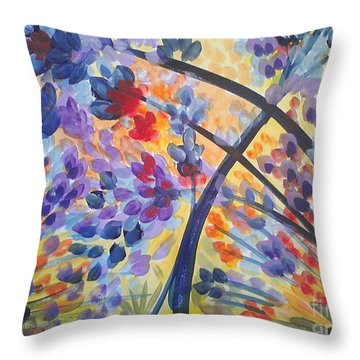 Color Flurry Throw Pillow by Holly Carmichael