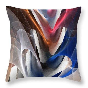 Color Fold Throw Pillow by Anastasiya Malakhova
