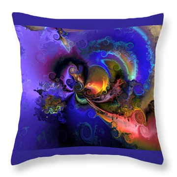 Color Gone Amok Throw Pillow
