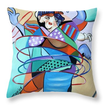 Color In Motion Throw Pillow by Anthony Falbo