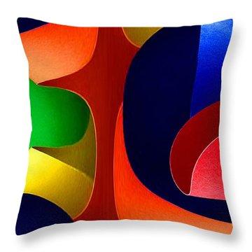 Throw Pillow featuring the digital art Color Maze by Rafael Salazar