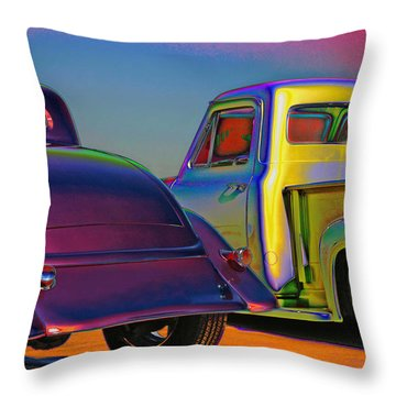 Throw Pillow featuring the photograph Color Me A Hot Rod by Christopher McKenzie