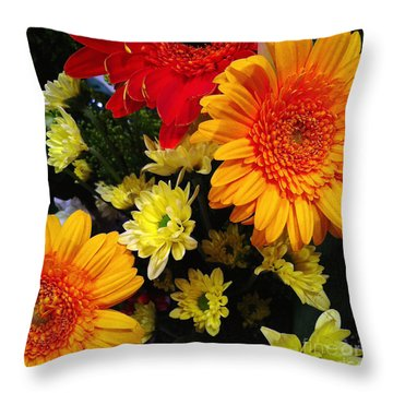 Color Me Bright Throw Pillow
