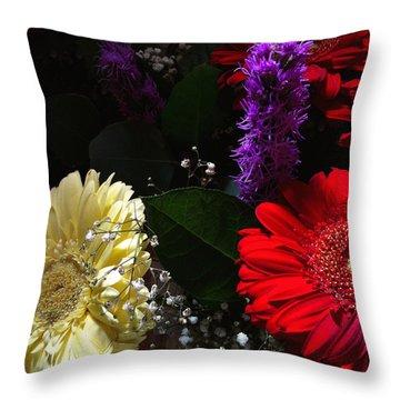 Throw Pillow featuring the photograph Color Me Dark by Meghan at FireBonnet Art