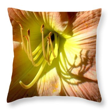 Color Me Just Peachy Throw Pillow
