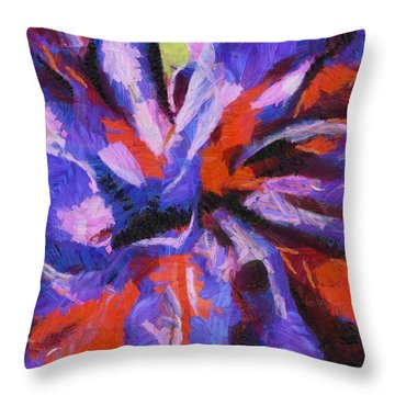 Throw Pillow featuring the digital art Color My Insecurity by Joe Misrasi