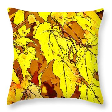 Color Of Fall Throw Pillow