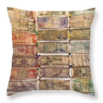 Color Of Money 1 Throw Pillow