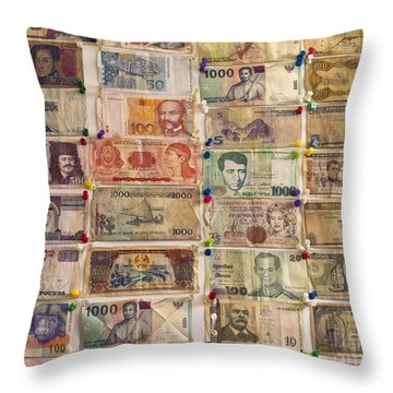 Color Of Money 2 Throw Pillow