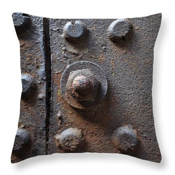 Color Of Steel 3 Throw Pillow