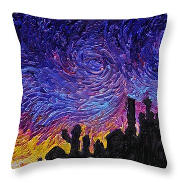 Color Of The Sky Part1 Throw Pillow