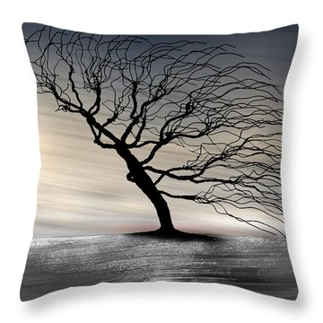Color Of The Wind Throw Pillow by Gray  Artus
