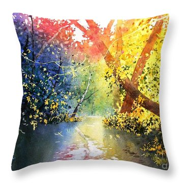 Color Of Trees Throw Pillow
