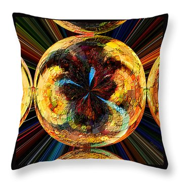 Throw Pillow featuring the painting Color Power Collage by Paula Ayers