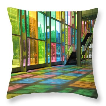 Color Reflection Throw Pillow by Alfred Ng