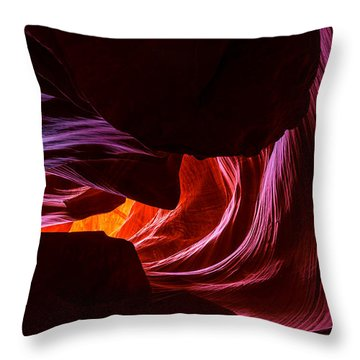 Color Ribbons Throw Pillow by Chad Dutson