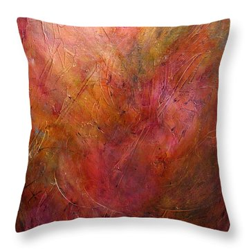 Color Shifts Throw Pillow