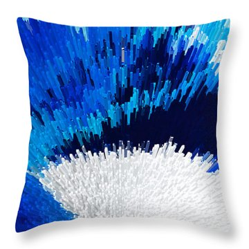 Color Shock 2 - Vibrant Digital Painting Art Throw Pillow by Sharon Cummings