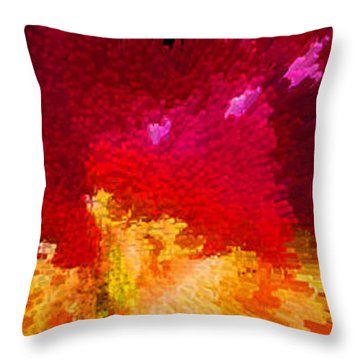 Color Shock 4 - Vibrant Digital Painting Throw Pillow