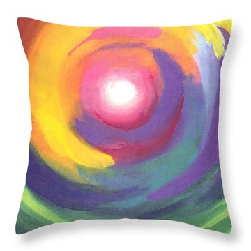 Color Spiral Throw Pillow