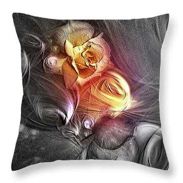 Color Struggling To Emerge Throw Pillow by Tyler Robbins
