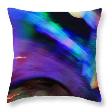 Throw Pillow featuring the pyrography Color Tunnel  by Chris Thomas