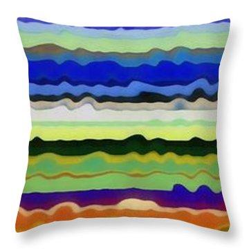 Color Waves No. 5 Throw Pillow