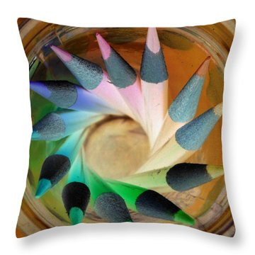 Throw Pillow featuring the photograph Color Wheel Negative by Elizabeth Sullivan