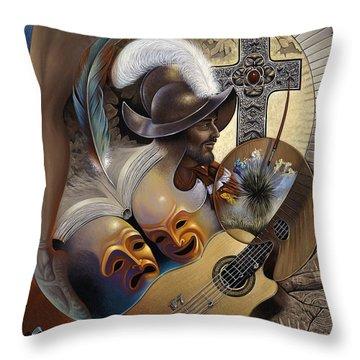 Color Y Cultura Throw Pillow
