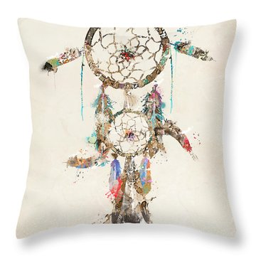 Color Your Dreams Throw Pillow by Bri B